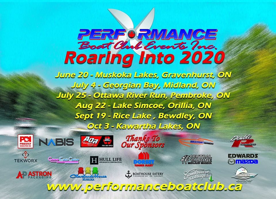 Performance Boat Clubs 2020 Schedule